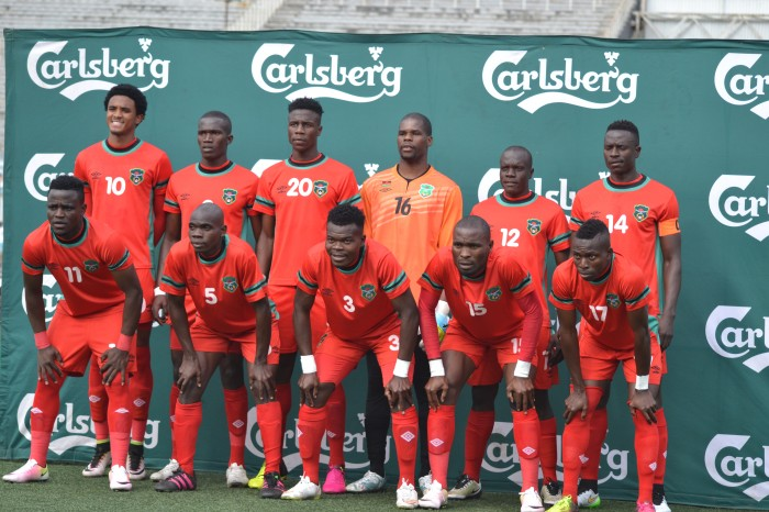 Flames line up before their last game against Swaziland on 4th September 2016